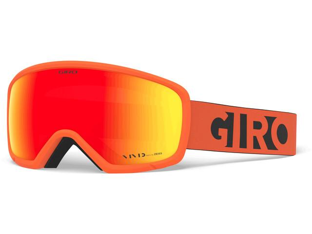 Giro Ringo Goggles, orange black blocks/vivid ember